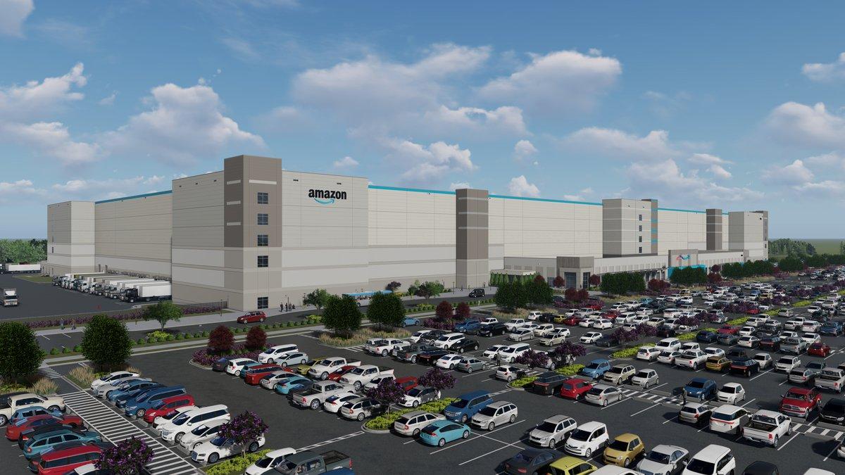 Rendering of Amazon robotics facility coming to Shreveport, La.