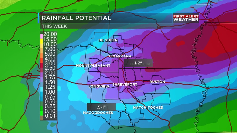 We are tracking significant rain on the way for the region later on this week.