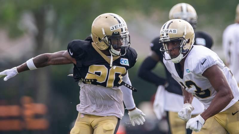 New Orleans Saints cornerback Janoris Jenkins (20) defends New Orleans Saints wide receiver...