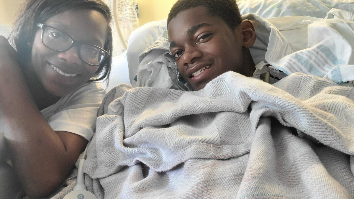 Sable Barber (left) said that her 15-year-old son didn't show any typical symptoms before...