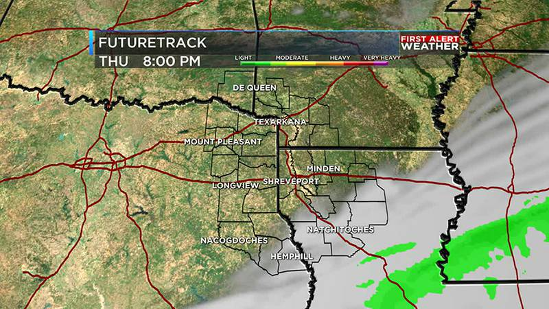 Clouds clear out later this afternoon