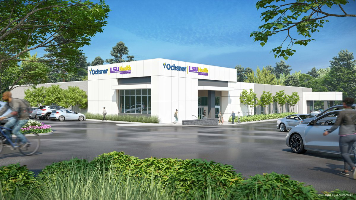 Rendering of one of the Ochsner LSU Health Shreveport community health centers scheduled to...