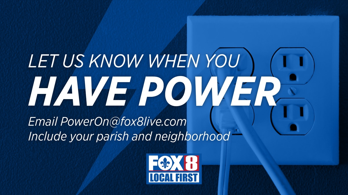 Use the hashtag #Fox8PowerOn on twitter or send an email to let us know when your lights come...