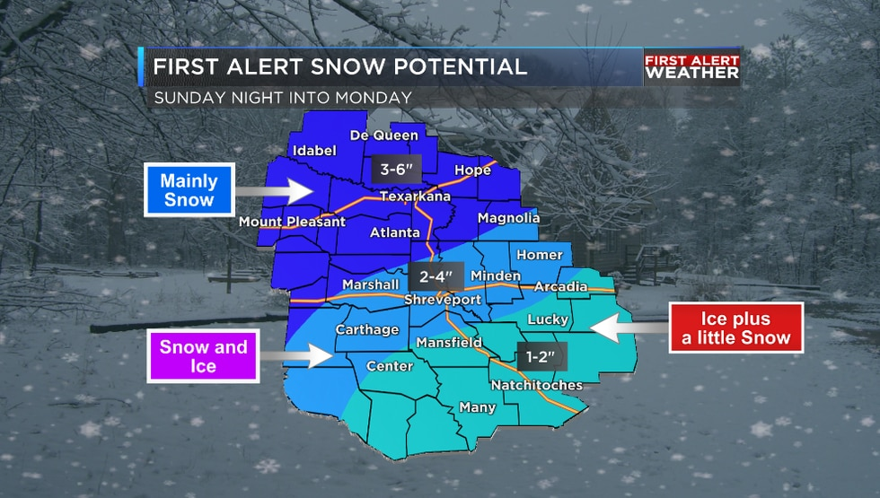 Snow and ice potential