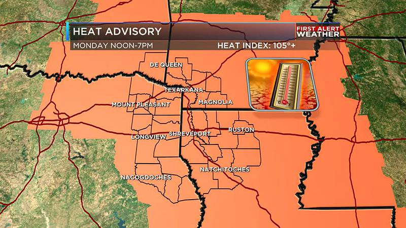 Feel-like temperatures will be in the triple digits
