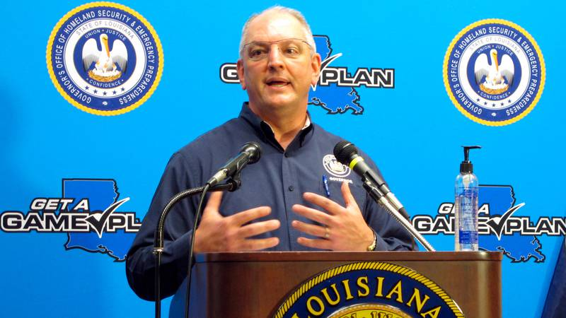 Louisiana Gov. John Bel Edwards talks about his state's response to Hurricane Laura and to the...
