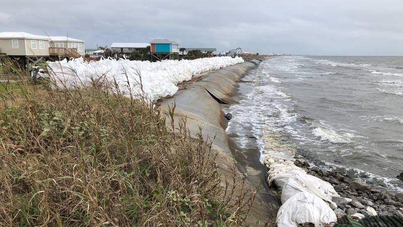 Grand Isle Burrito levee bolstered for Zeta