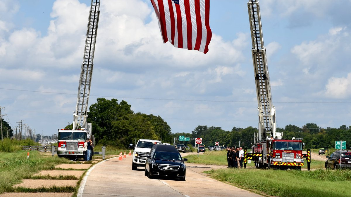 Natchitoches Parish Fire Protection District #5 Chief John Nicholas was laid to rest Monday,...