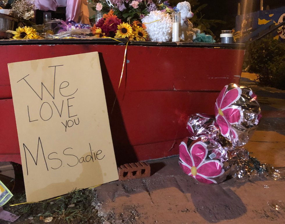 Signs of love and thanks now decorate the museum founded by activist Sadie Roberts-Joseph.
