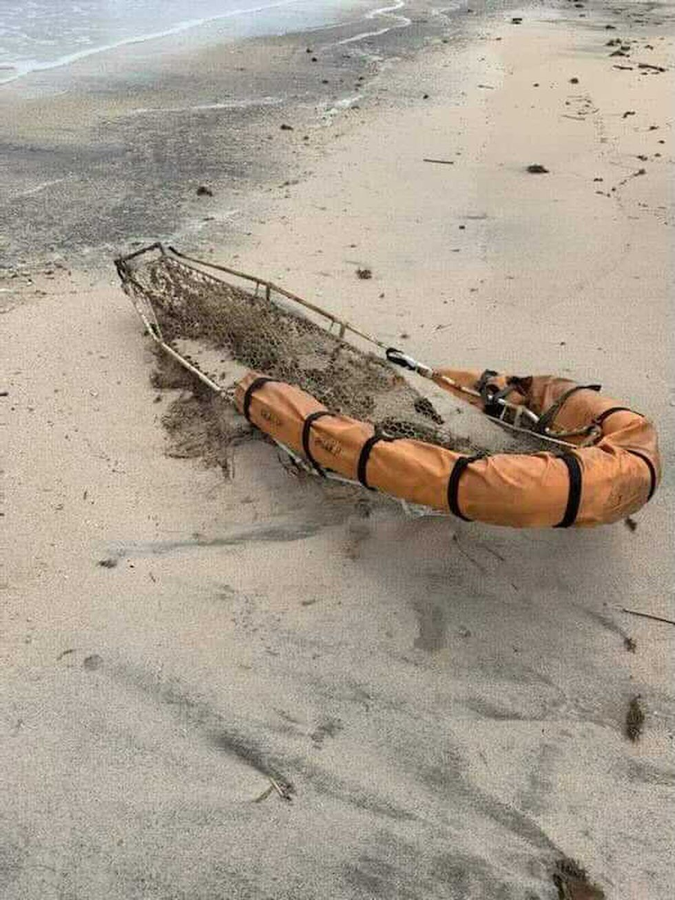 A rescue basket marked Seacor Power has been found on the beach in Cameron Parish. The basket...