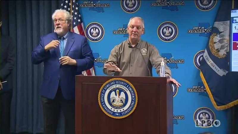 Gov. Edwards holds briefing on COVID-19 response