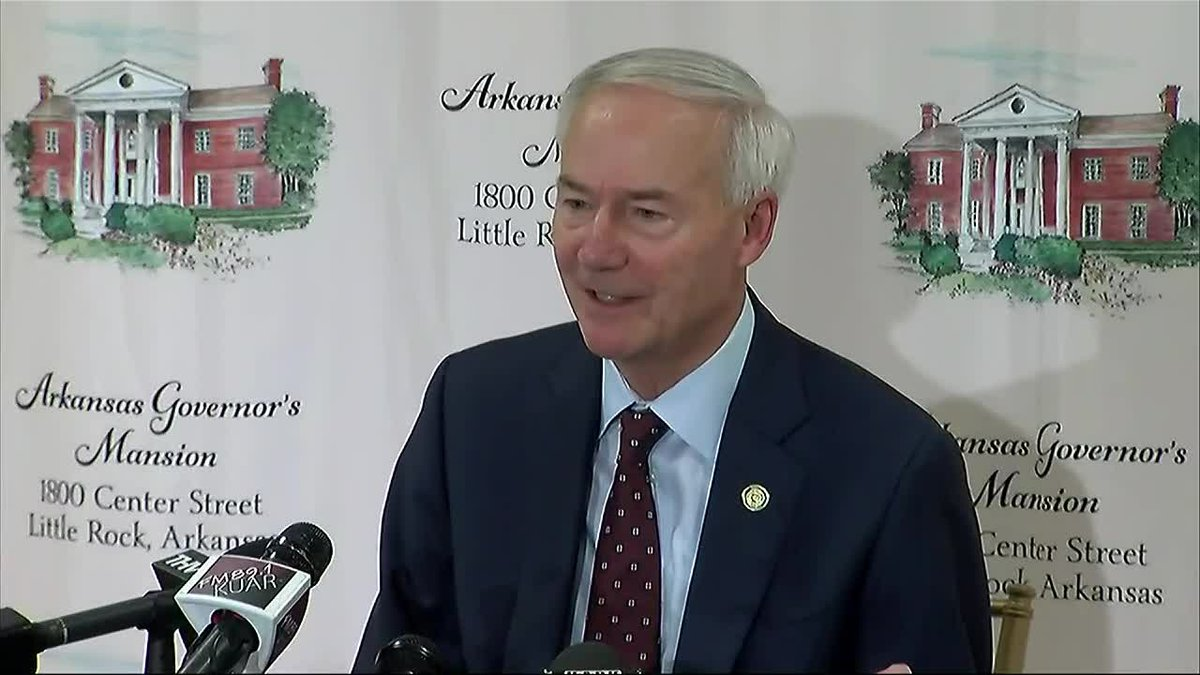 Ark. Gov. Asa Hutchinson holds a news conference to discuss the special legislative session.