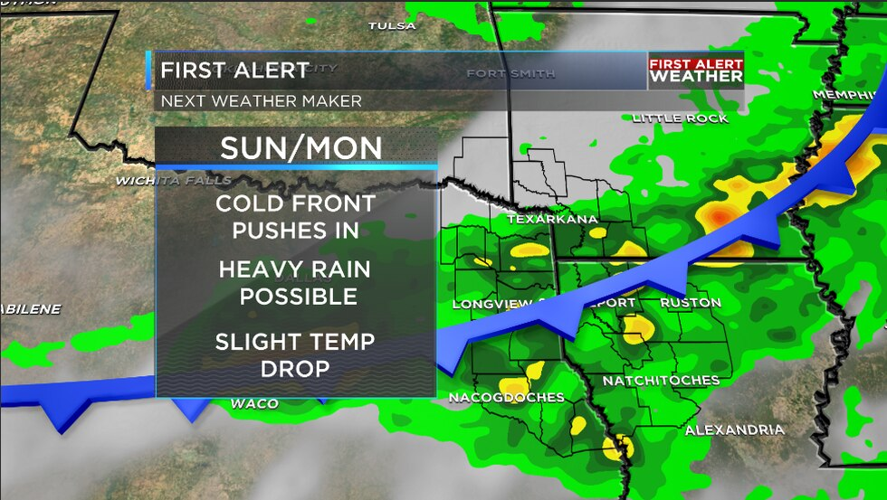 We are tracking our next weather maker that will arrive early Sunday afternoon and could bring...