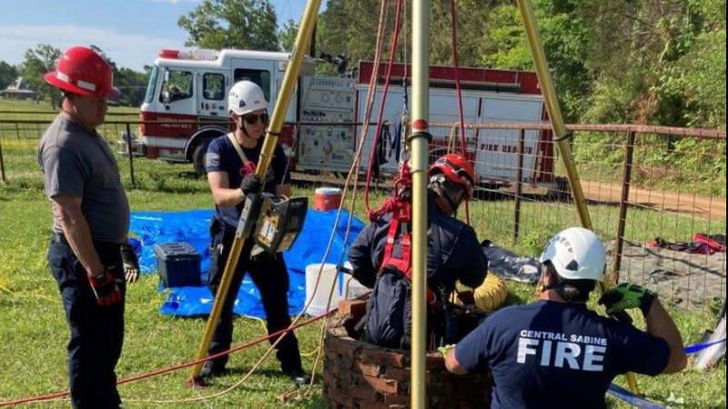 Central Sabine Fire Department's confined space entry team recovered more skeletal remains and...