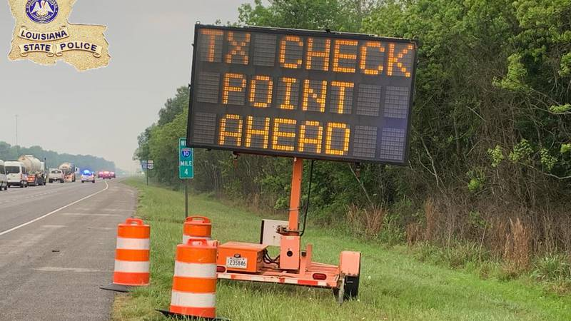 The screening of vehicles applies to all roadways crossing the LA/TX border including...