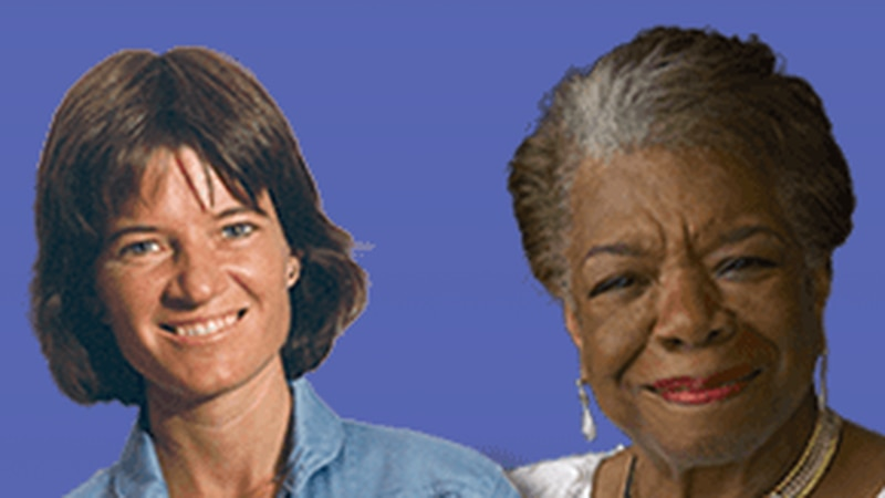 Sally Ride, the first U.S. woman in space, and poet and author Maya Angelou are among female...