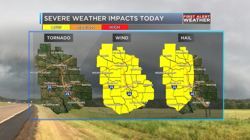 We are tracking the potential for strong storms across the ArkLaTex this evening as a front...