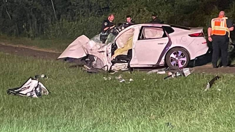 A woman is recovering following a crash on late Monday night.