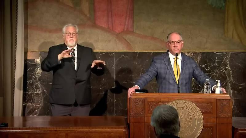 Gov. John Bel Edwards gives update on the start of Phase 1 of reopening.