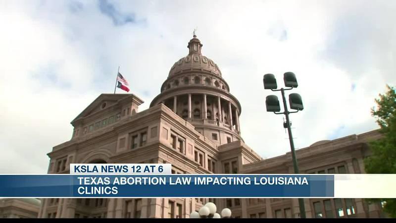 Texas abortion law impacting Louisiana clinics