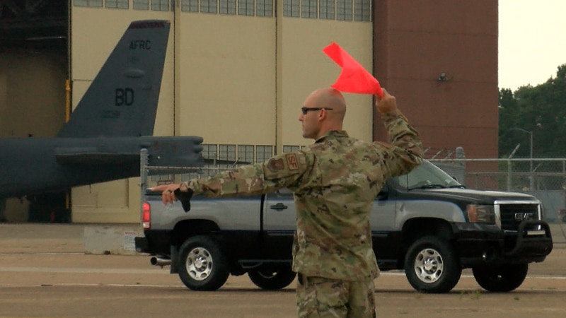 Barksdale Air Force Base is bustling ahead of the Defenders of Liberty 2021 air show this...
