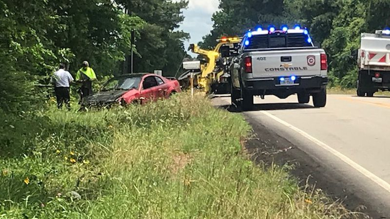 Smith County Pct. 4 Constable Josh Joplin says the driver of this car wrecked out on Barber...