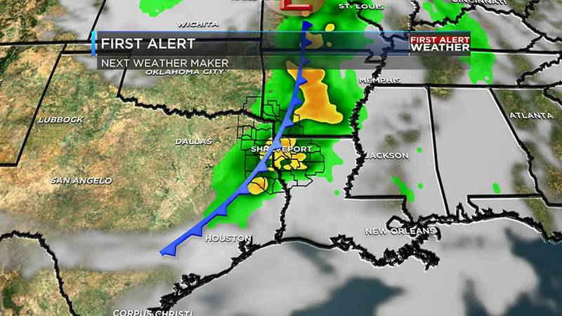 Midweek cold front