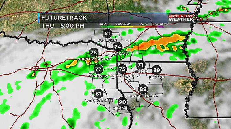 Thursday rain & storms