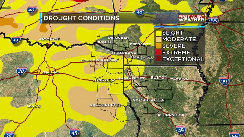 We are tracking increasing drought conditions across the ArkLaTex thanks to prolonged dry...