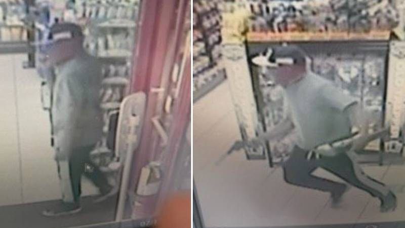 Texarkana, Ark., police say these images from surveillance camera video show the gunman who...