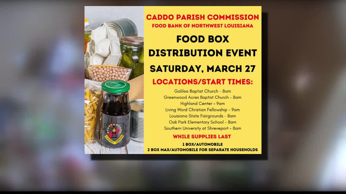 Drive through food giveaway