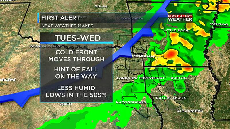Cold front brings fall cool down