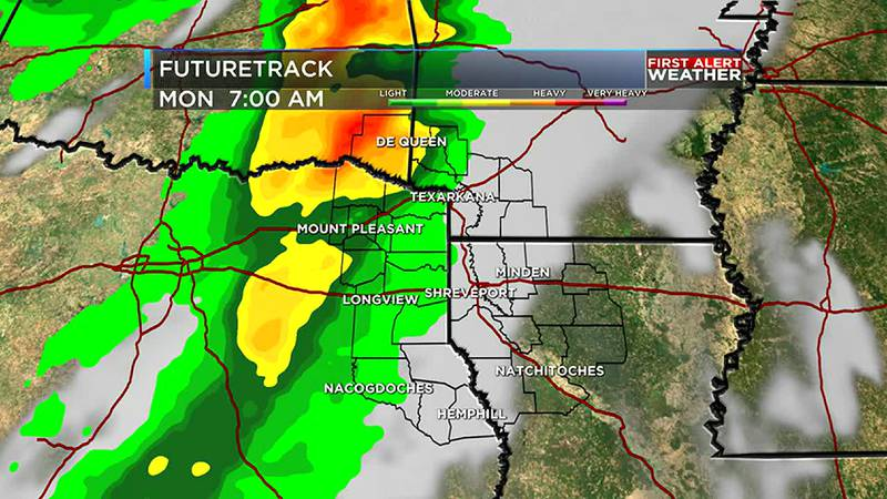 There could be some severe weather Sunday night into Monday morning