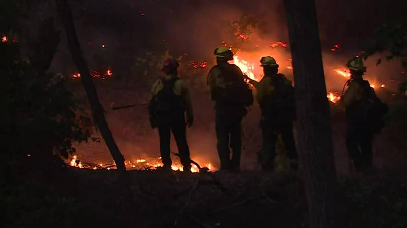 The River Fire in Northern California has damaged or destroyed up to 40 buildings and threatens...