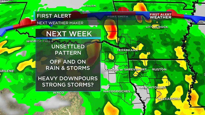 More rain expected next week