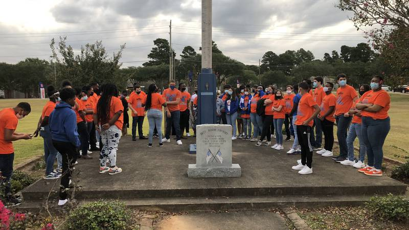 Students gathered Wednesday, Sept. 29, 2021 to pray for an end to the violence at Southwood...