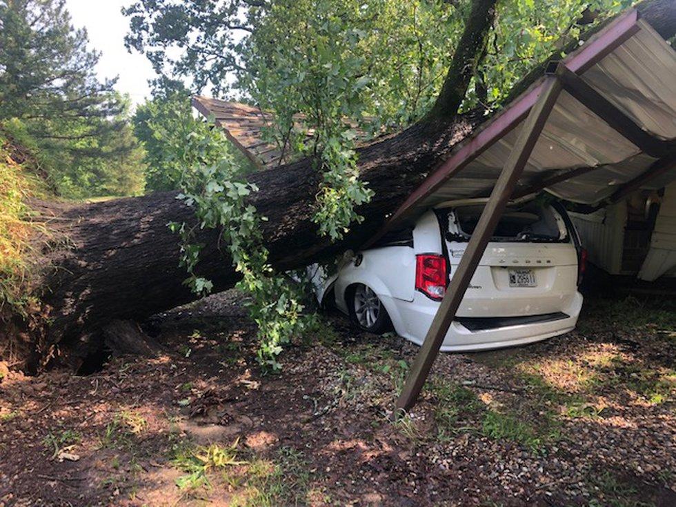 Weather damage from Fouke, Ark