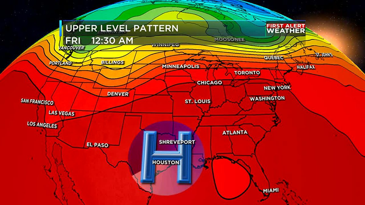 Expect the intense heat to continue right through the end of the week for the ArkLaTex.