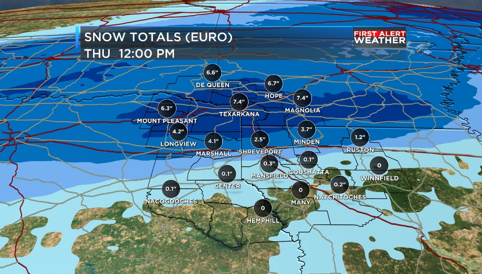 More snow is expected through Thursday