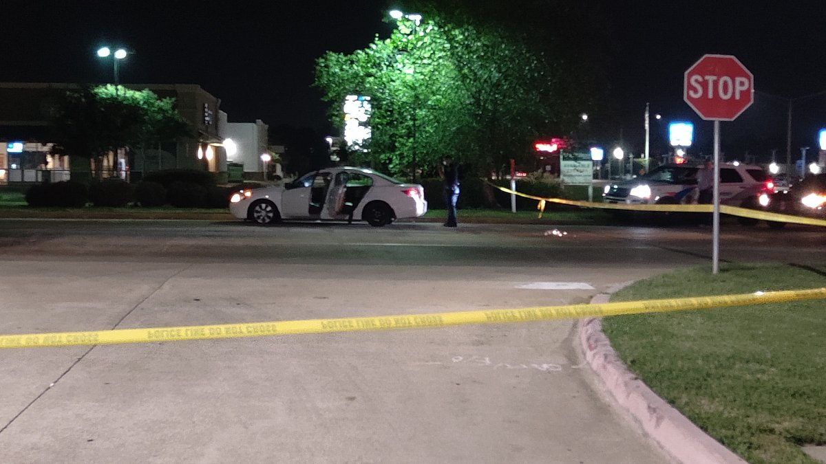 Police investigate a vehicle that was shot at on Regal Drive.