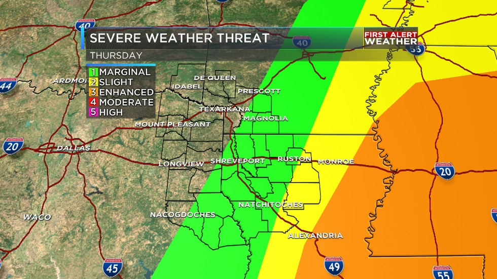 Thursday's Severe Weather Outlook