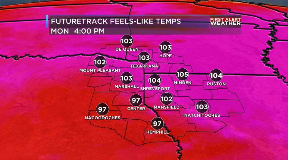 We are tracking some intense heat on the way for the ArkLaTex starting later this weekend.