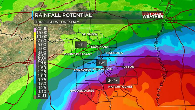 Rain is the main threat from Nicholas in the ArkLaTex