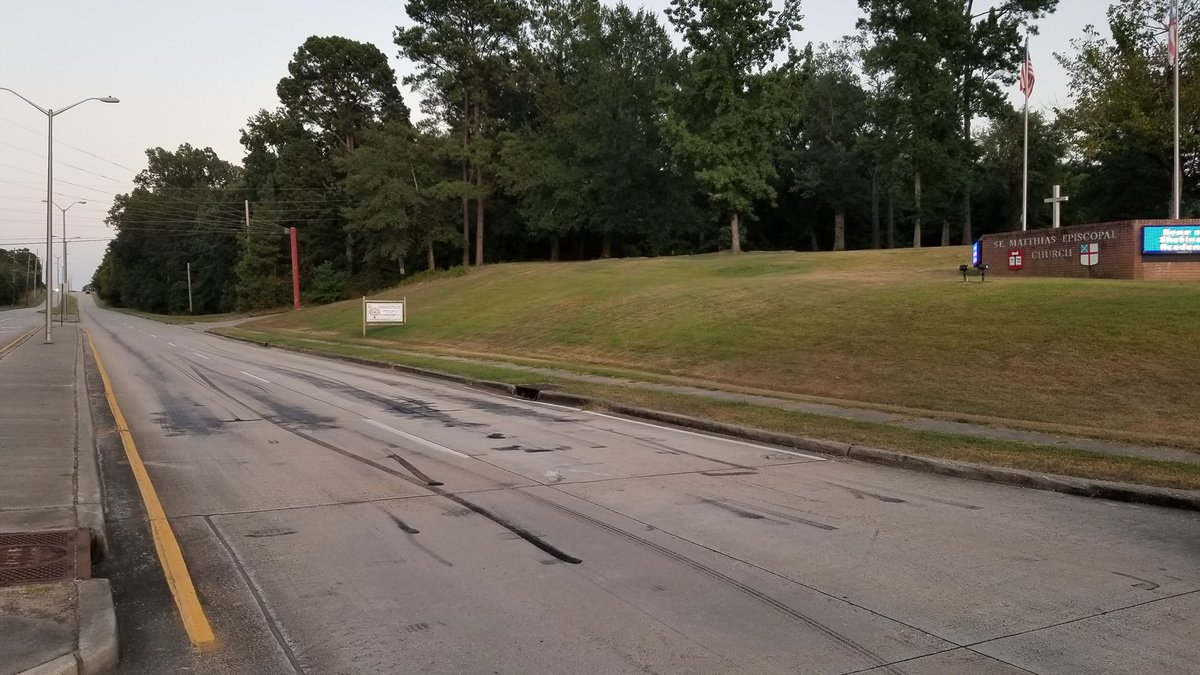 The apparent drag racing took place near St. Matthias Episcopal Church on Lakeshore Drive in...