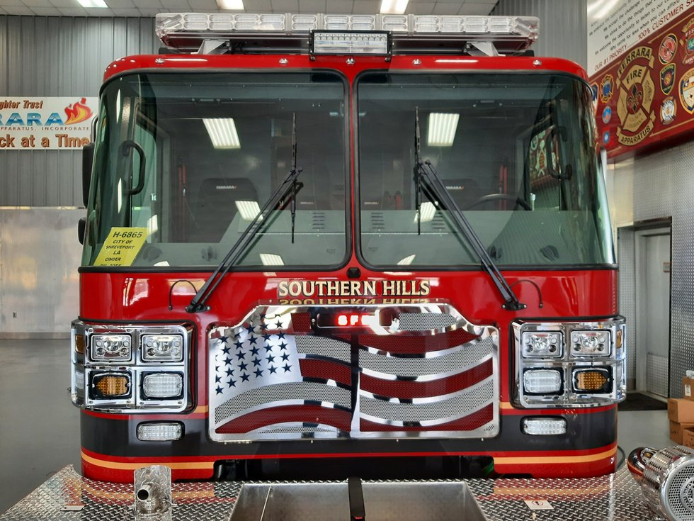 One of the newest firetrucks for the Shreveport Fire Department.