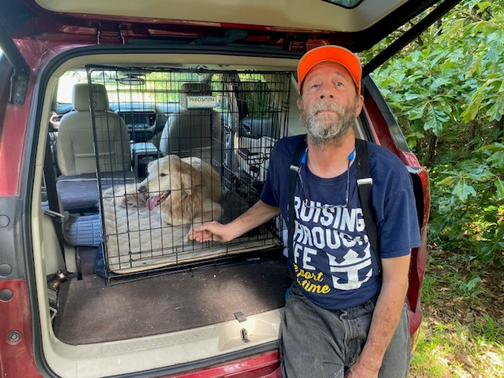 Solo was found by a volunteer Monday, June 14, 2021 about a mile from the kennel from which he...