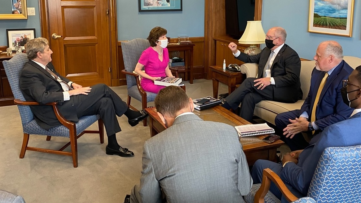 Kennedy and Edwards meet with Collins, ranking member on the Senate Appropriations Subcommittee...