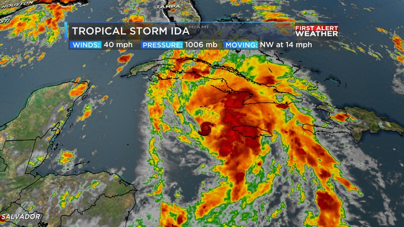 Ida forms in the Caribbean and will move into the Gulf