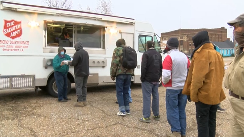 The Salvation Army distributes hot meals to those in need.