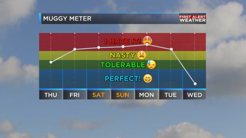 We are tracking our potential next taste of fall on the way for the middle of next week.